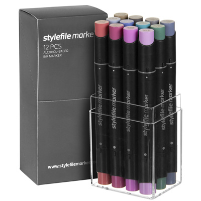 STYLEFILE Marker 12er Set MULTI 30