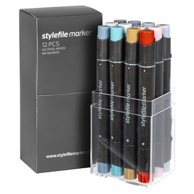 STYLEFILE Marker Set of 12 MULTI 37