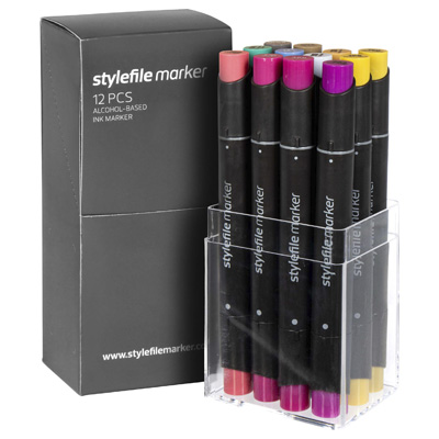 STYLEFILE Marker Set of 12 MULTI 38