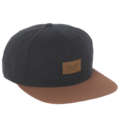 REELL Snap Back Cap SUEDE black/leather