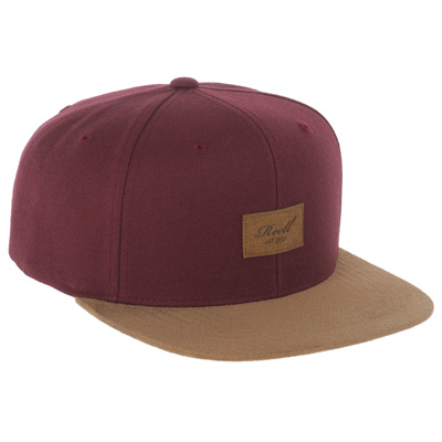 REELL Snap Back Cap SUEDE maroon/leather