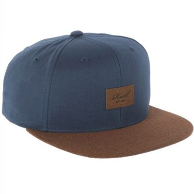 REELL Snap Back Cap SUEDE navy/leather