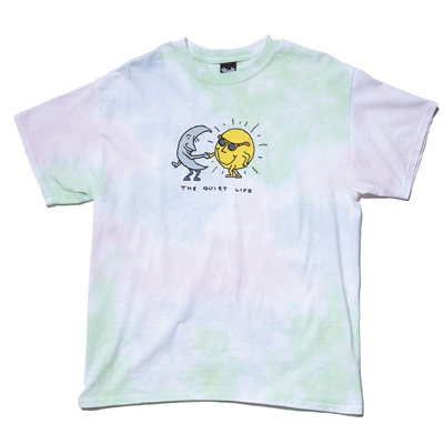 THE QUIET LIFE T-Shirt SUN & MOON tie dye green