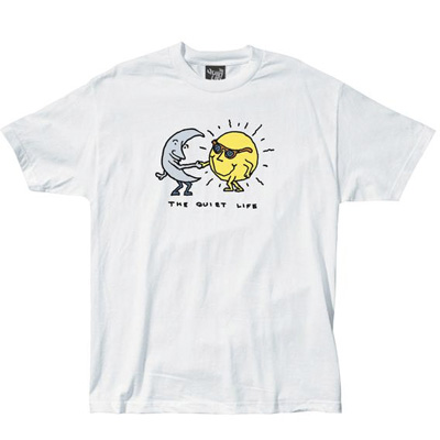 THE QUIET LIFE T-Shirt SUN & MOON white