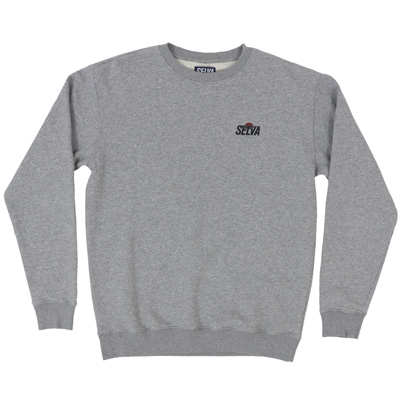 SELVA Sweater SUNSET LOGO heather grey