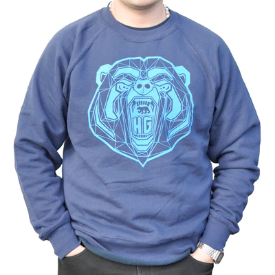 HG STREETWEAR Sweater BEAR navy