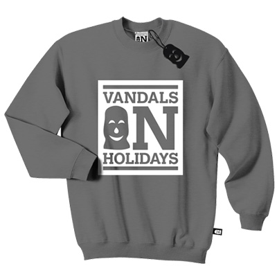VANDALS ON HOLIDAYS Sweater BOX LOGO dark grey/white