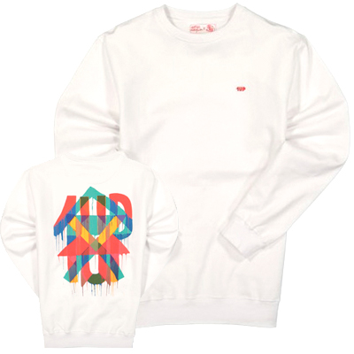 1UP Sweater MAJA HAYUK white/red