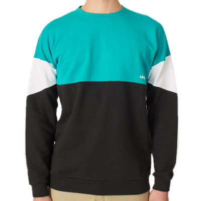 CLEPTOMANICX Sweater DROP 91 columbia/black/white