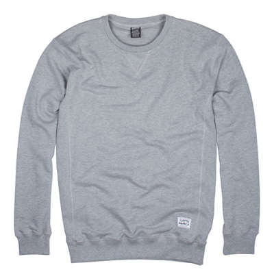 CLEPTOMANICX Sweater PATCH heather grey