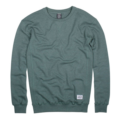 CLEPTOMANICX Sweater PATCH heather olive green