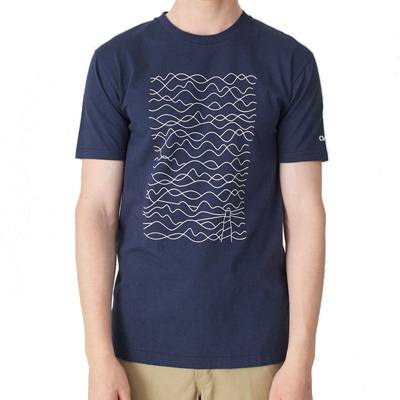 CLEPTOMANICX T-Shirt LIGHTHOUSE dark navy