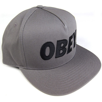 OBEY Snap Back Cap THE CITY LOGO steel/black