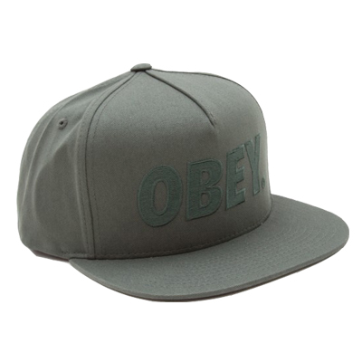 OBEY Snap Back Cap THE CITY LOGO army/green
