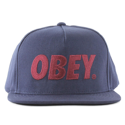 OBEY Snap Back Cap THE CITY LOGO dark navy/red