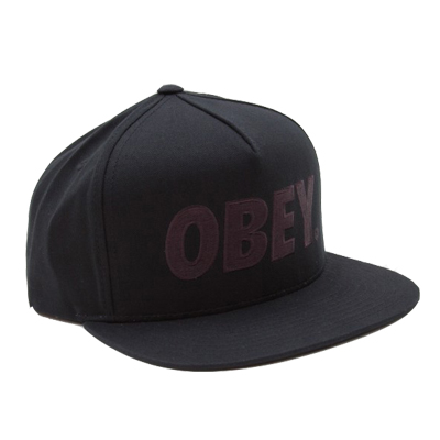 OBEY Snap Back Cap THE CITY LOGO jet black/black