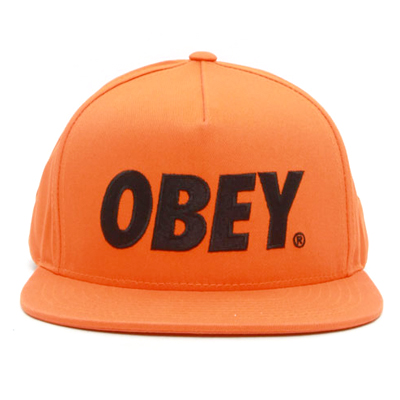 OBEY Snap Back Cap THE CITY LOGO orange/black