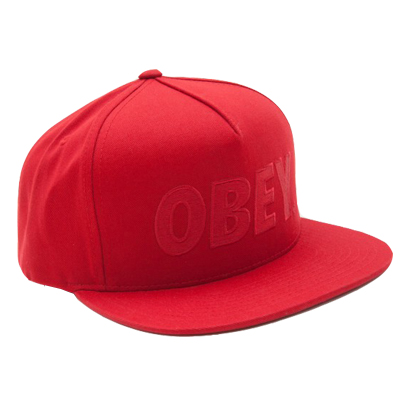 OBEY Snap Back Cap THE CITY LOGO red/red
