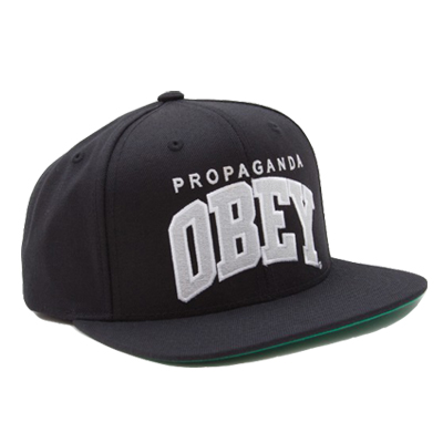 OBEY Snap Back Cap THROW BACK black/grey