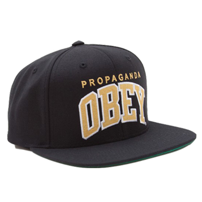 OBEY Snap Back Cap THROW BACK black/gold
