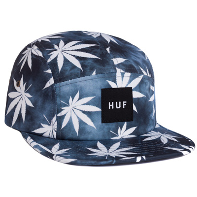 HUF 5Panel Cap TIE DYE PLANTLIFE black