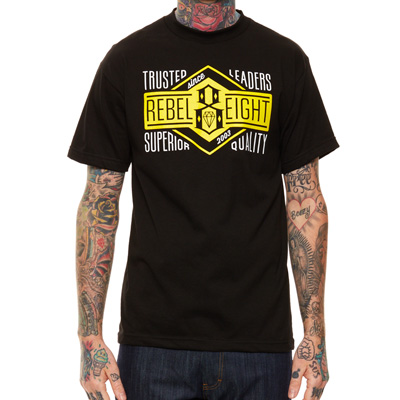 REBEL8 T-Shirt TRUSTED LEADERS black/yellow