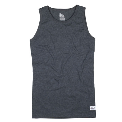 CLEPTOMANICX Tank Top PATCH heather black