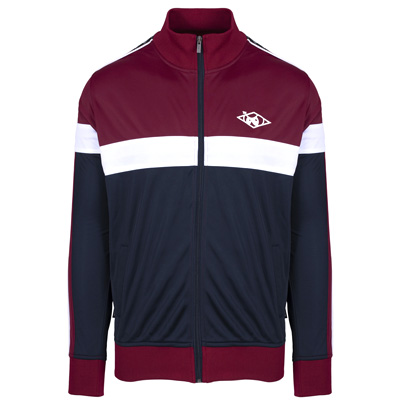 UNFAIR ATHLETICS Track Jacket TAPED HASH burgundy/navy