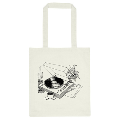 DEDICATED Tote Bag COFFEE VINYL offwhite