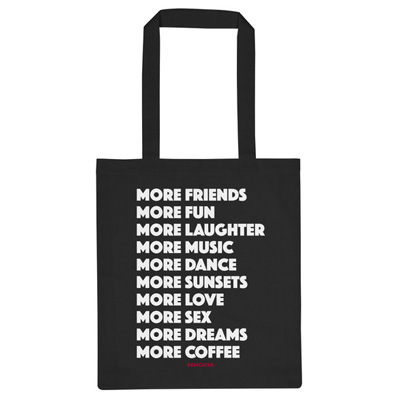 DEDICATED Tote Bag MORE black