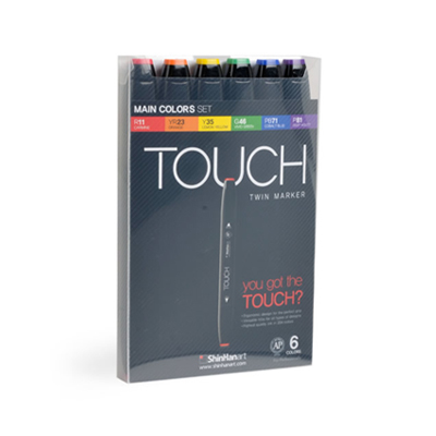 TOUCH TWIN MARKER 6er Set MAIN