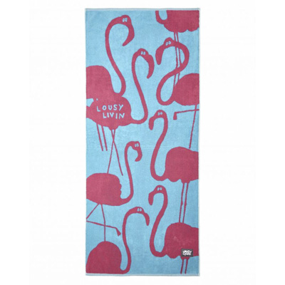 LOUSY LIVIN Towel FLAMINGOS turquoise/pink