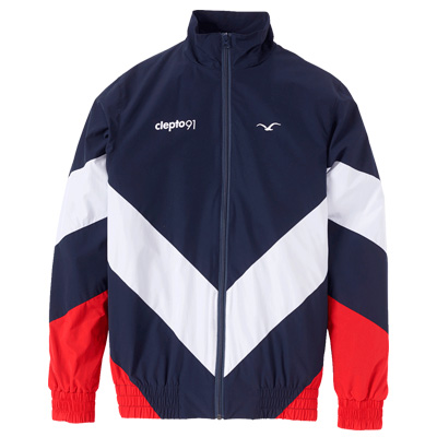 CLEPTOMANICX Trackjacket TRACK darknavy/white/red