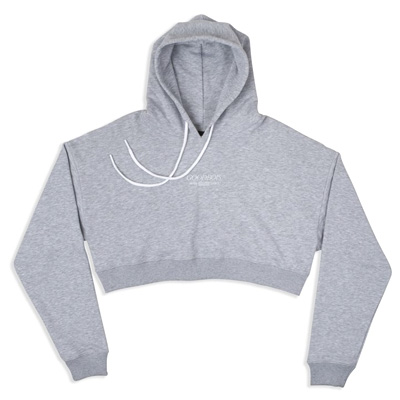 GOODBOIS Girl Crop Hoody TRADEMARK grey