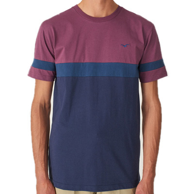 CLEPTOMANICX T-Shirt DECK STRIPE crushed violets/navy