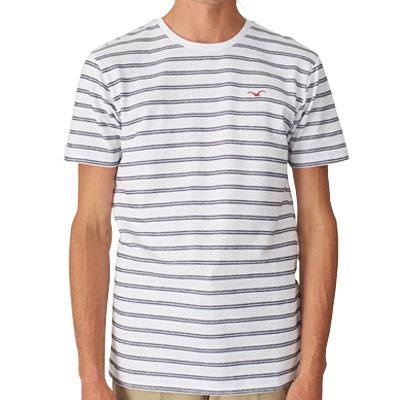 CLEPTOMANICX T-Shirt DOUBLE STRIPE white