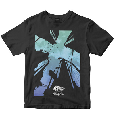 DEPHECT T-Shirt LOOK UP charcoal