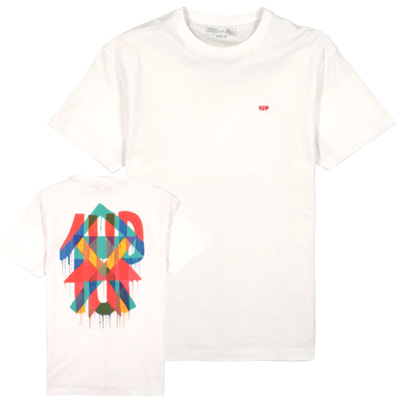 1UP T-Shirt MAJA HAYUK white/red