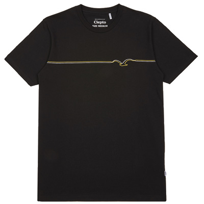 CLEPTOMANICX T-Shirt MÖWE LINES black/golden rod