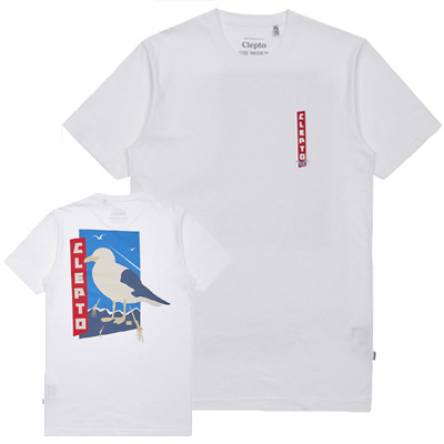 CLEPTOMANICX T-Shirt PORT OF ORIGIN white