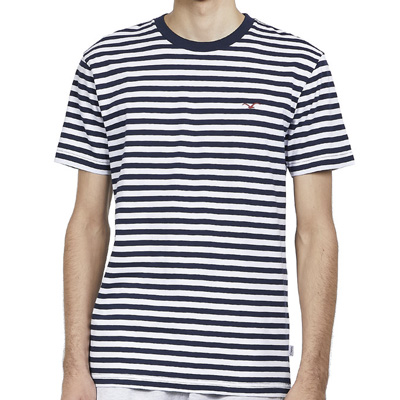 CLEPTOMANICX T-Shirt STRIPE dark navy/white