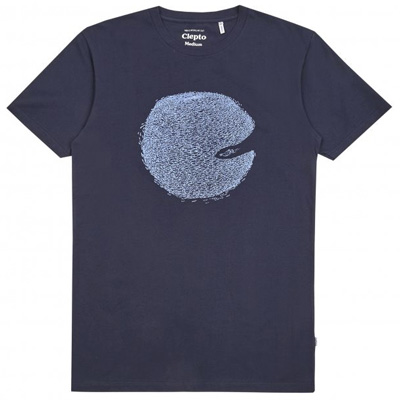 CLEPTOMANICX T-Shirt SWARMS dark navy