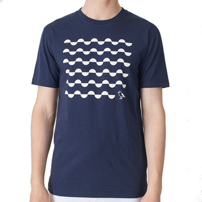 CLEPTOMANICX T-Shirt WAVE GULL dark navy
