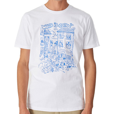 CLEPTOMANICX T-Shirt WHERE IS white