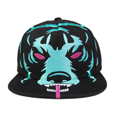 MISHKA Snap Back Cap ULTRA SIZE ADDER black/turquoise