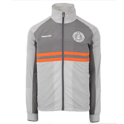 UNFAIR ATHLETICS Windrunner LIGHT CARBON grey/orange