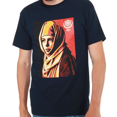 OBEY T-Shirt UNIVERSAL PERSONHOOD navy