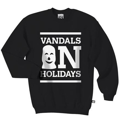 VANDALS ON HOLIDAYS Sweater LOGO black/white