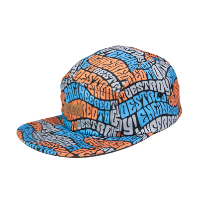 MISHKA 5Panel Cap WAVE ETD orange/blue