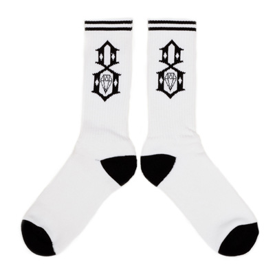 REBEL8 Socken LOGO white